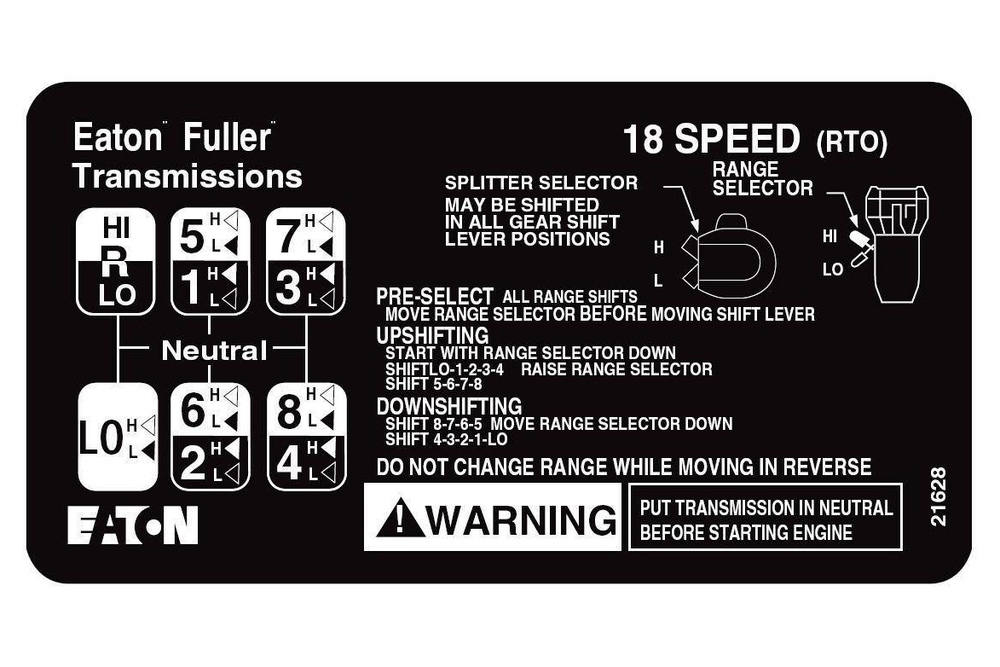 eaton fuller road ranger 18 speed
