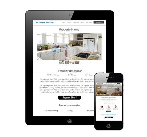 mobile friendly vacation rental website design.png