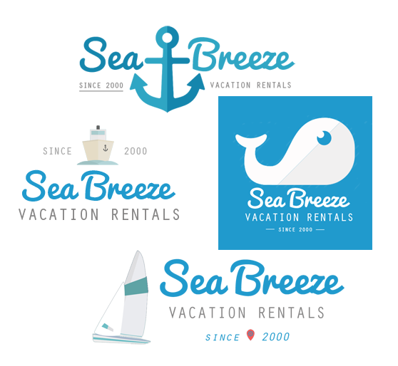 vacation rental logo design