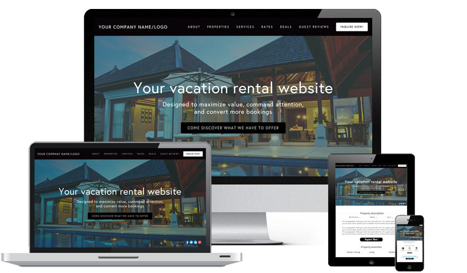 premium vacation rental website design