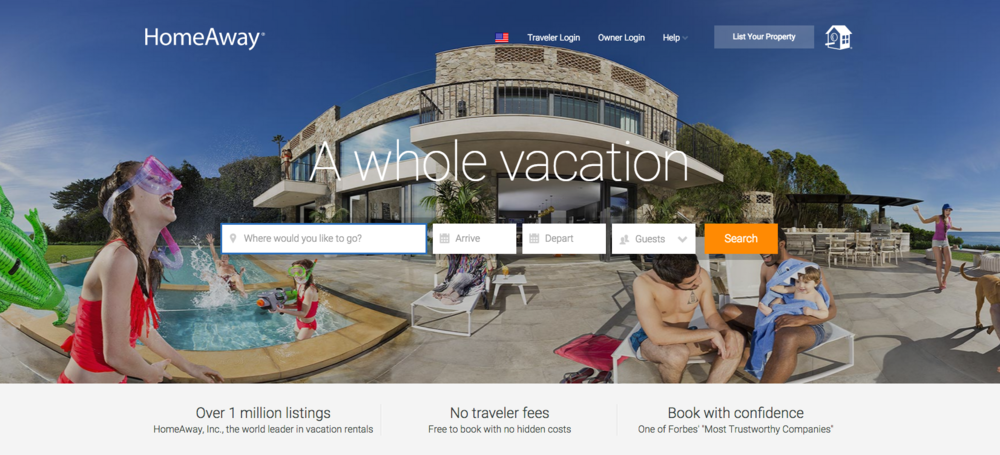 after acquiring several vacation rental websites the company decided to combine these to create homeawaycom which was launched in the summer