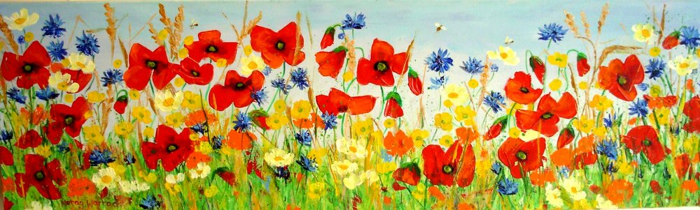 34 Red Poppies Buttercups n Cornflowers.JPG