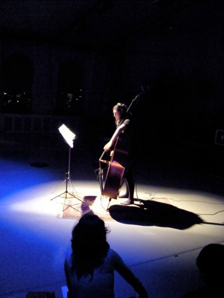 "Bassist Eleonore Oppenheim performs ""Heavy Beating"""