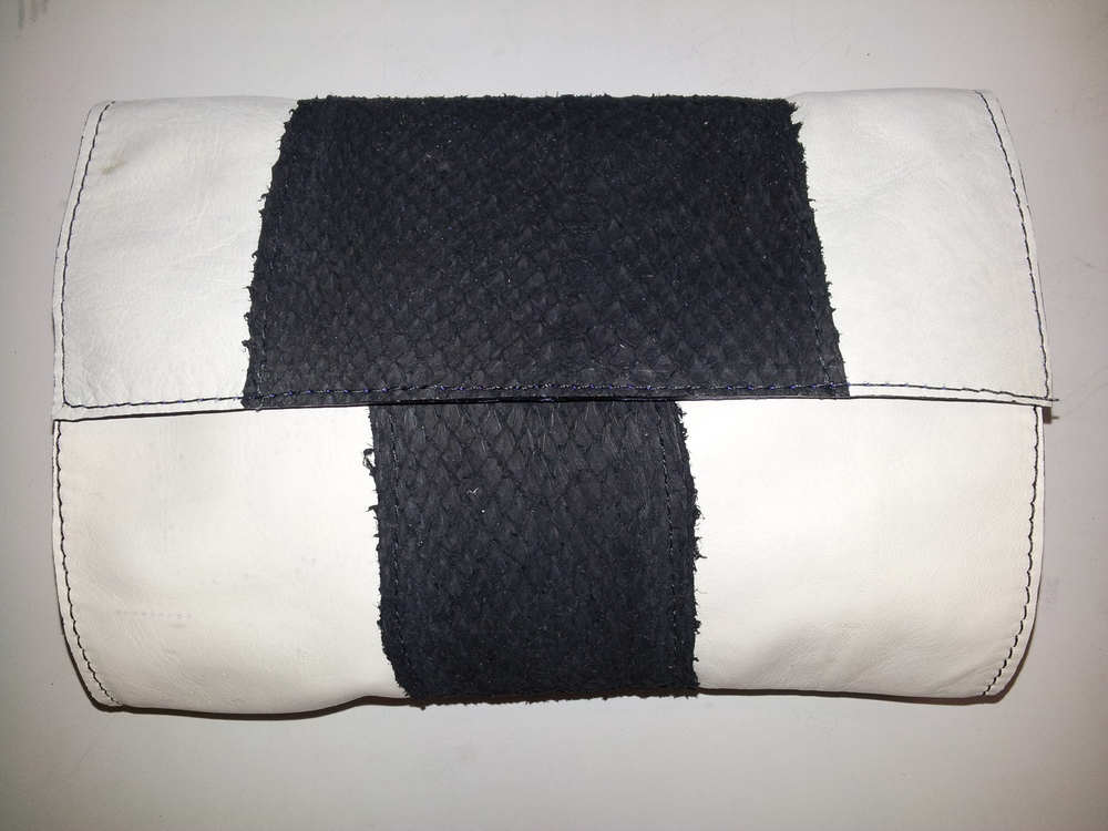 Bronagh Holmes Luxury - Avani - White with Black Salmon