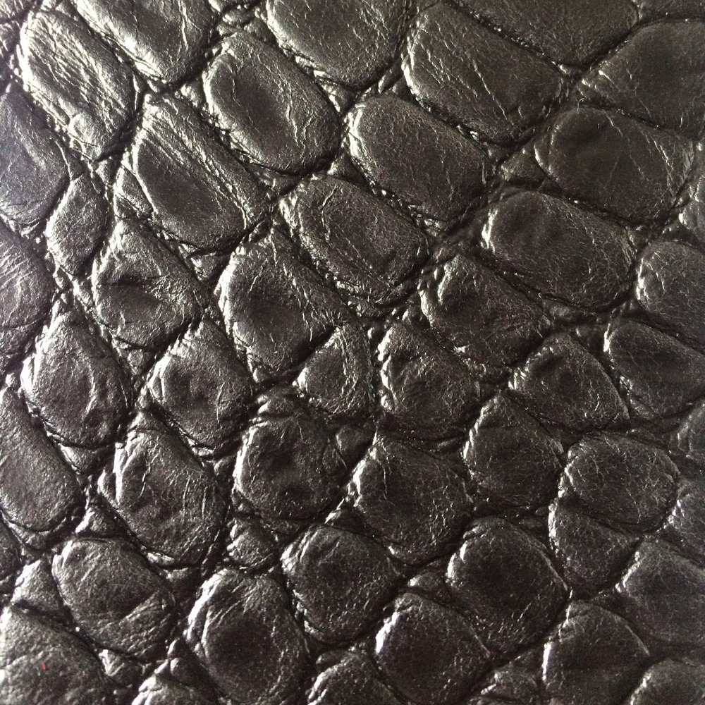 Croc Print - Black