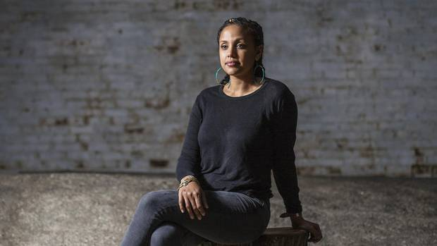 Weyni Mengesha, director of the upcoming Soulpepper play 'Father Comes Home From the Wars' sits in Toronto on July 20.   (Michelle Siu/The Globe and Mail)
