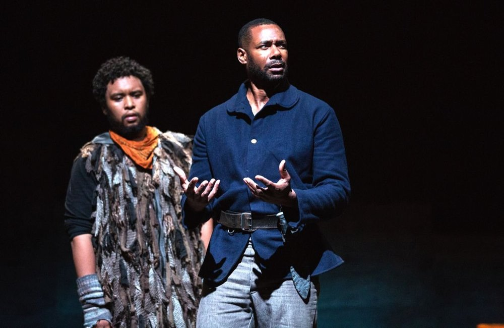 Soulpepper's Father Comes Home From The Wars (Parts I, II, III) got a total of eight Dora nominations, including one for its terrific ensemble, which included Peter Fernandes (left) and Dion Johnstone.