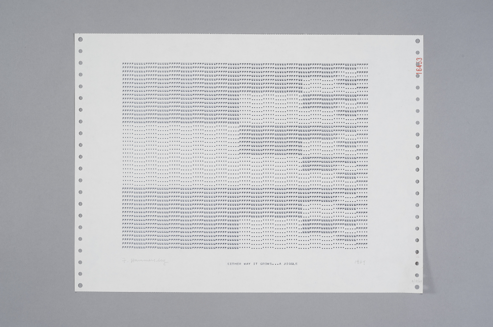 Frederick Hammersley Either Way It Grows...A Jiggle, 1969 Computer Drawing / Print on Paper 11 x 14 3/4 in.