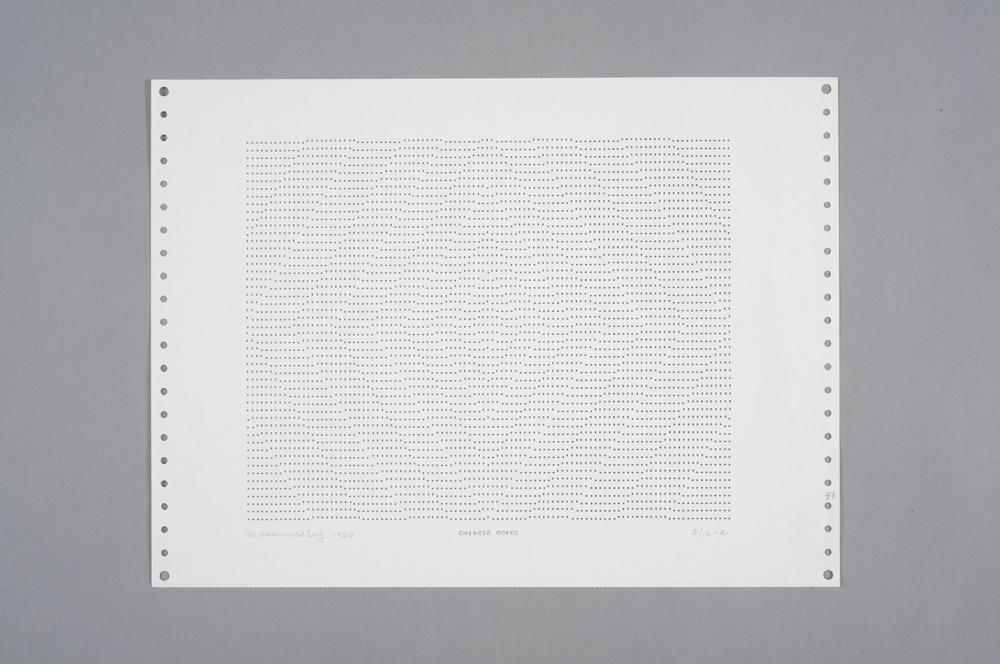 Frederick Hammersley Chinese Boxes, 1969 Computer Drawing / Print on Paper 11 x 14 3/4 in.