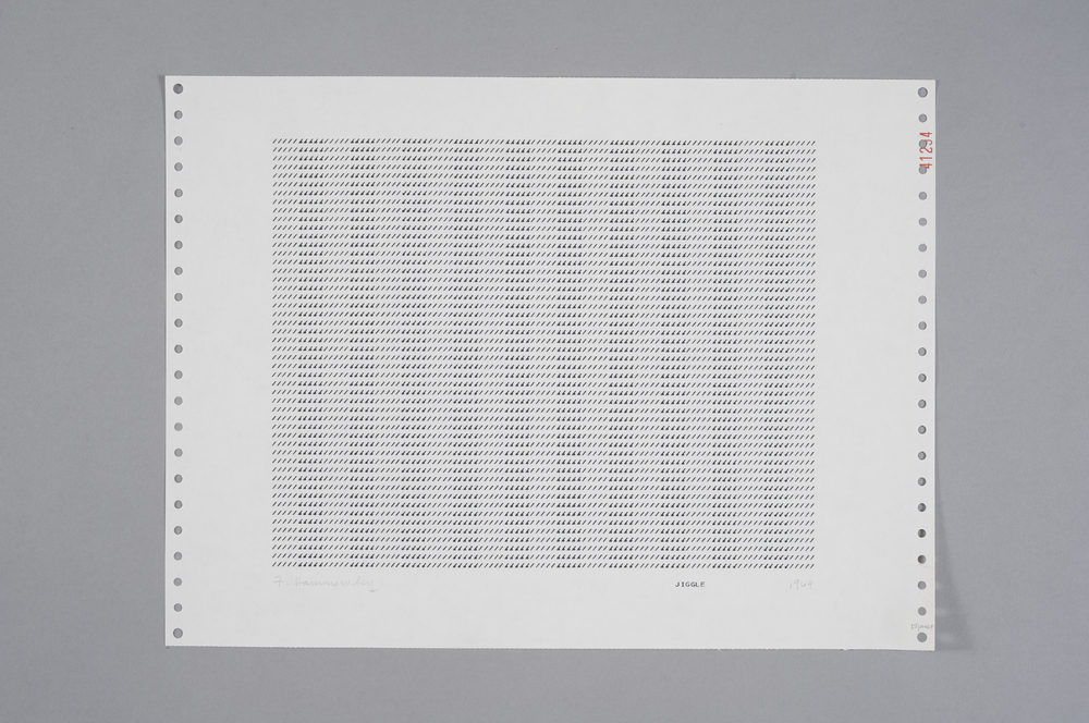 Frederick Hammersley Jiggle, 1969 Computer Drawing / Print on Paper 11 x 14 3/4 in.