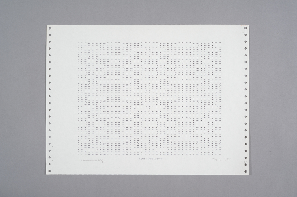 Frederick Hammersley Four Times Around, 1969 Computer Drawing / Print on Paper 11 x 14 3/4 in.