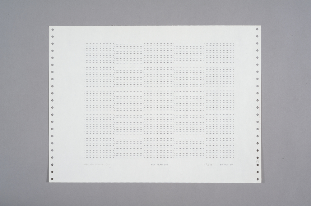 Frederick Hammersley Not Flar Off, 1969 Computer Drawing / Print on Paper 11 x 14 3/4 in.