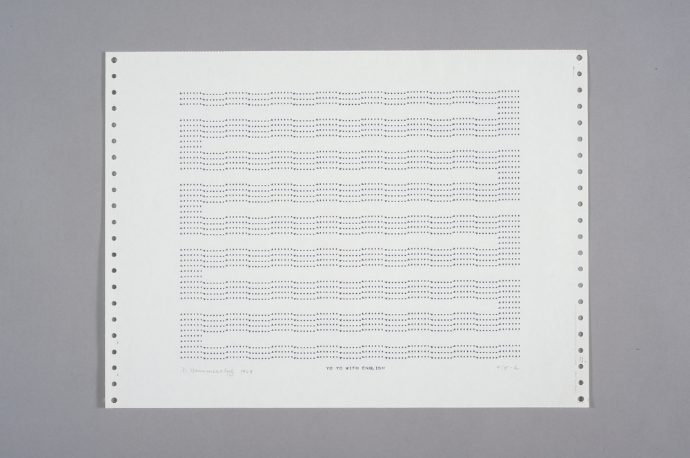 Frederick Hammersley Yo Yo With English, 1969 Computer Drawing / Print on Paper 11 x 14 3/4 in.