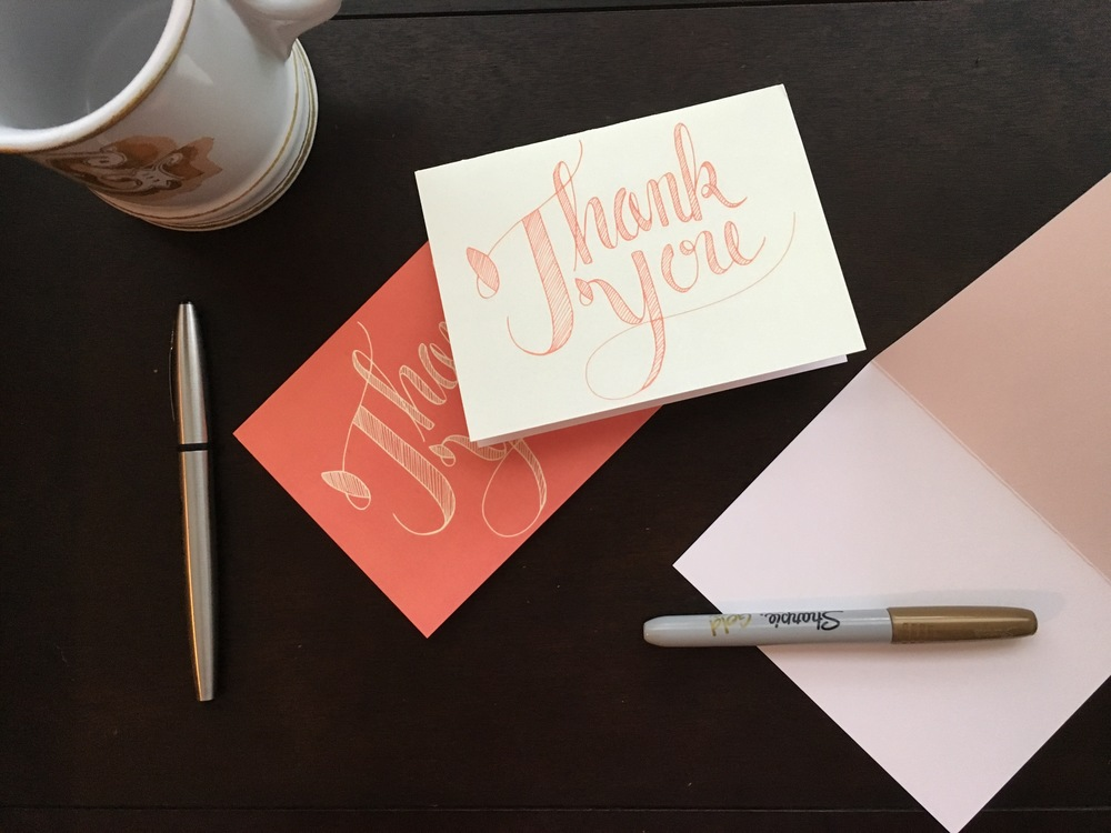 Thank You Cards Hand Lettered