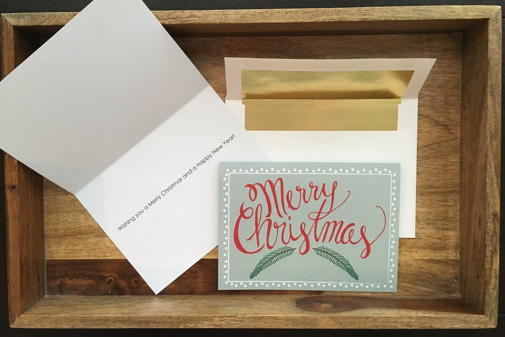 Merry Christmas card- Blue Pine