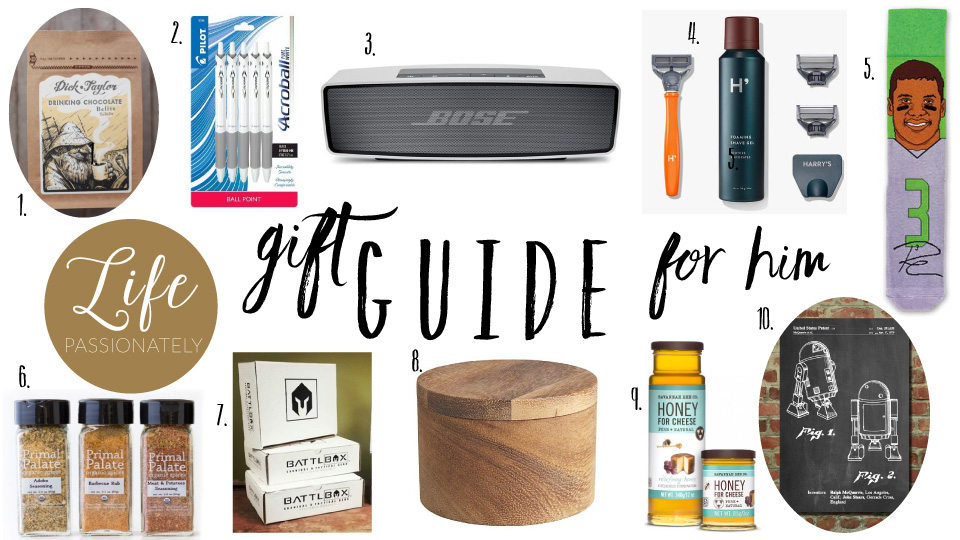 Life Passionately Gift Guide for Him
