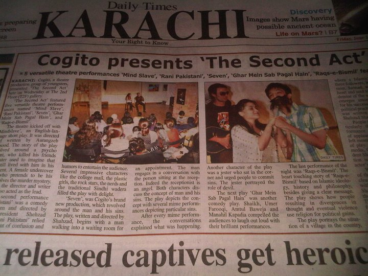 Review of the Second Act in The Daily Times. - June 2011
