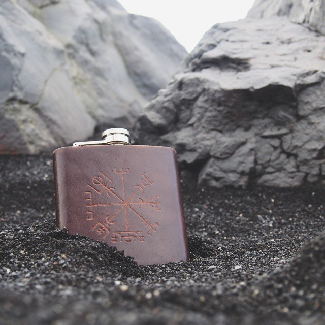 I think it's about time I actually made this flask available to everyone, don't you think? #vsco #vscocam #vscogood #wearevsco #bestofvsco #afterlight #afterlightapp #leatherwork #leathercraft #hordstore #leather #shopsmall #etsy #etsyshop #handmade #handcrafted #Iceland #blacksand #icelandicstave #magic (at Vík)