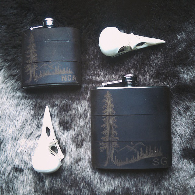 Love working on these 3oz flasks and making miniatures of my designs!