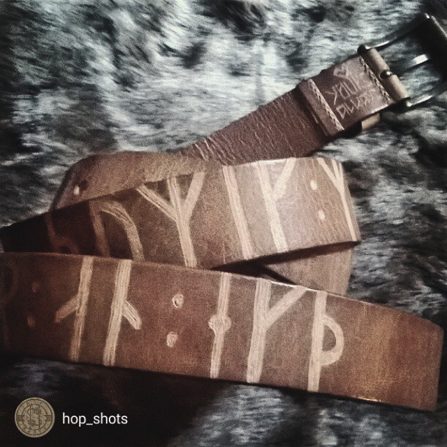 repost from @hop_shots One of my many goodies this year, a customised belt with a secret message from @hord.co ! I managed to fit in some leathercraft for my loved ones this Christmas. Belts ahoy!