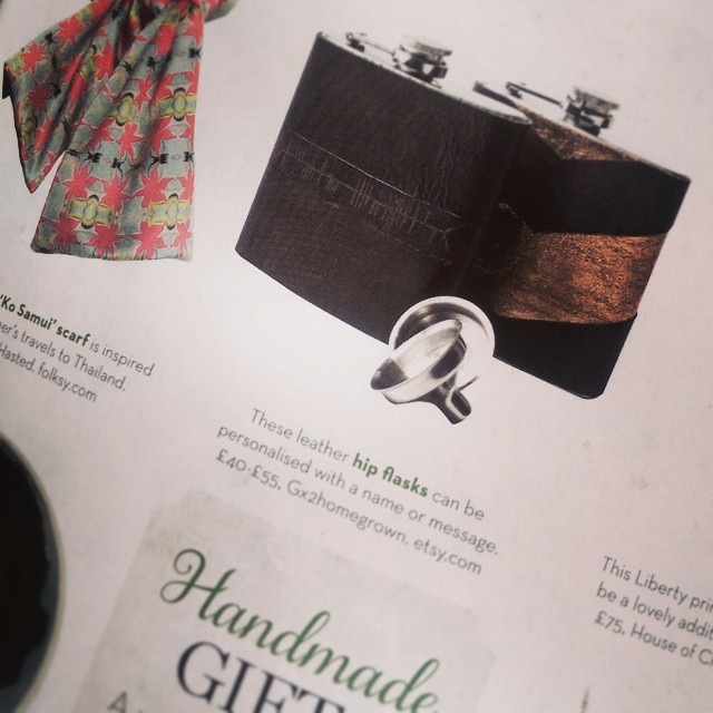 My flasks have been featured in #homes&antiques magazine - amongst some great designers in their #Christmas #gift guide