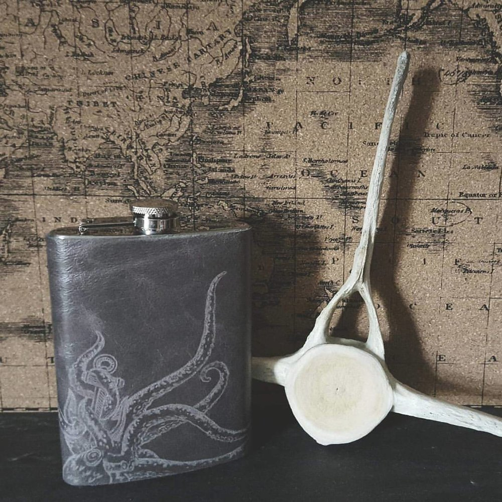 Kraken Hip Flask