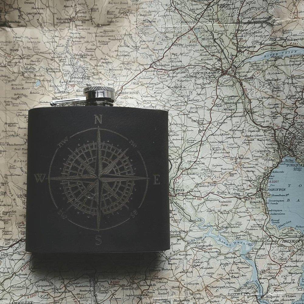 Compass Hip Flask