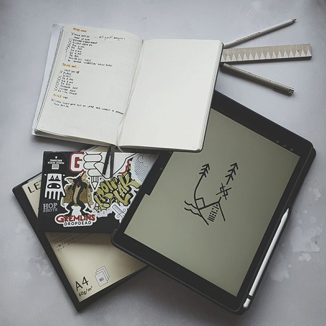 Todays #marchmeetthemaker is about sketchbooks & lists!  I have just treated myself to an Ipad pro and apple pencil to aid in the development of ideas and streamline the way we work. Whilst I am not sure if it will directly replace our sketchbooks, so far it is doing a fantastic job of trying.  I will probably go into more detail about how I use these in our stories today! If you have any recommended apps for the Ipad pro, I'd love to see them in the comments below! . . . . . . . #sketchbooks #creativetones  #lists #instagood #lifestyle #onthedesk  #thehappynow #liveauthentic #nothingisordinary #livethelittlethings #justgoshoot #darlingmovement #visualsoflife #abmlifeiscolorful #neverstopexploring #artofvisuals #lifeofadventure #abmlifeissweet #exploretocreate #livefolk #thatsdarling #calledtobecreative #createexplore #flatlay #desk