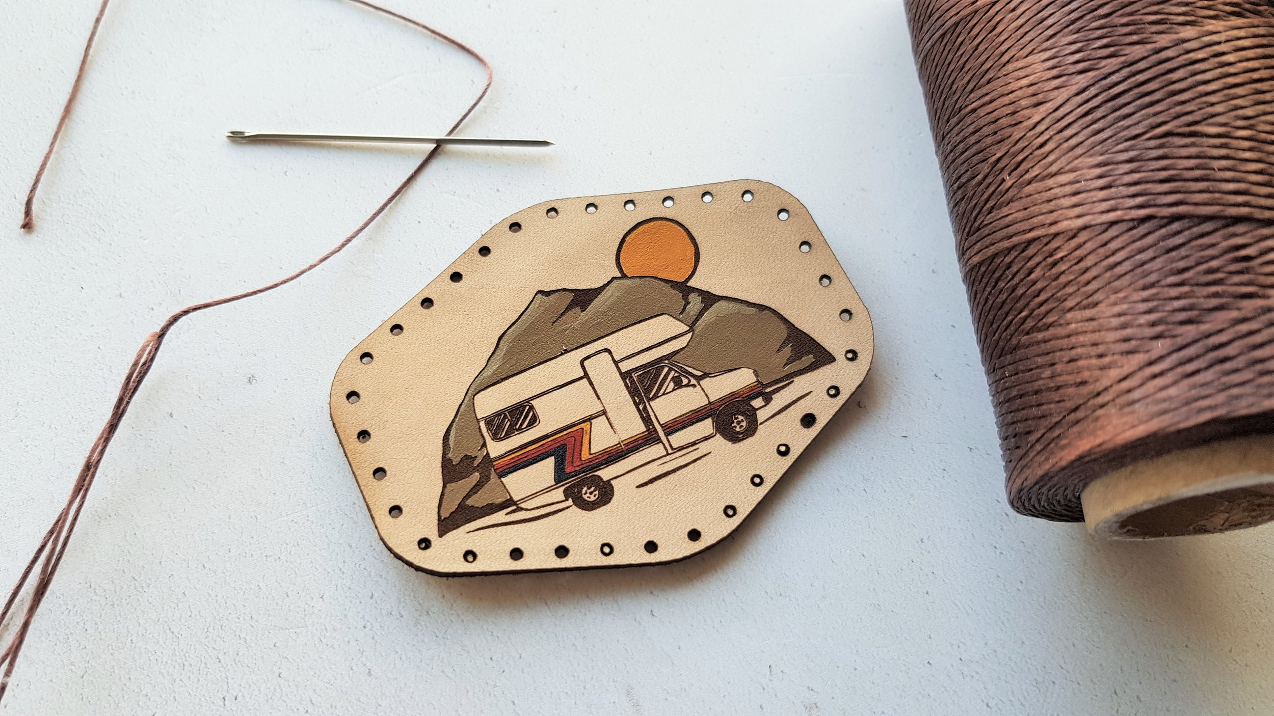 Hand Painted 'Motorhome' Leather Patch - £7 ...