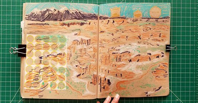 1. Grand View Point Overlook (Canyonlands National Park) 2. Landscape Arch (Arches National Park)  Utah  With @sumanarkrishnan  #sketchbook #itinerant #nationalparks #utah @nationalparkservice #shreymade