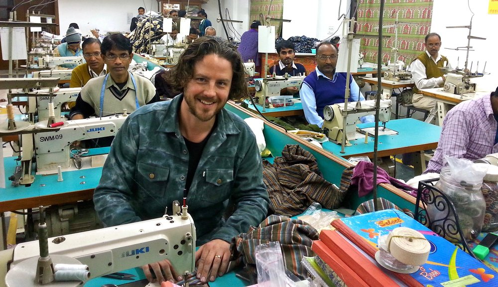 Working with incredibly talented tailors in India