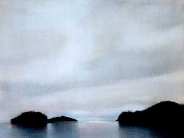 Evening at Sullivan Bay I, 2007, Oil on Canvas, 18 x 24