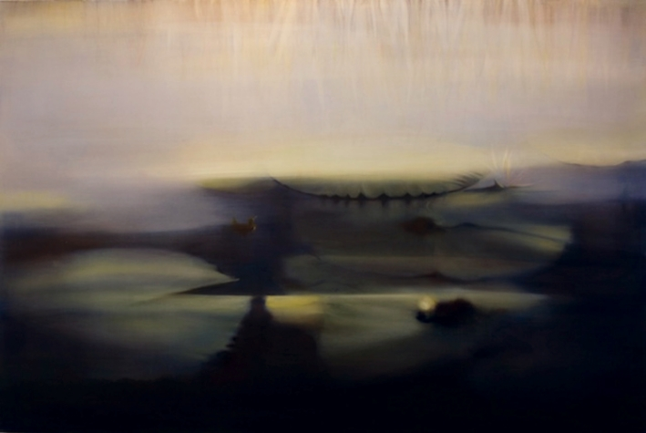 Lily pads VII, 2008, Oil on Canvas, 48 x 72, sold