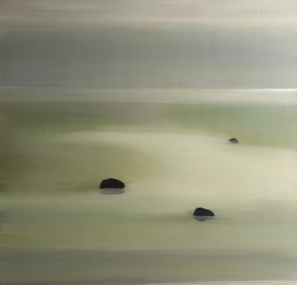 Three Rocks, 2013, Oil on Canvas, 52 x 50 Sold