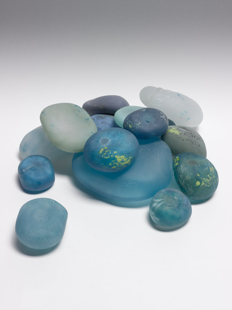 "Rocks, 2013, Blown Glass, Mixed sizes, 5"" - 2.5"""