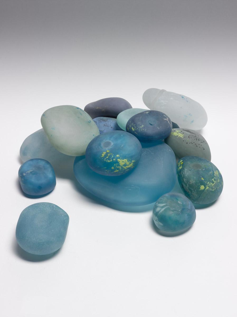 "Rocks, Blown Glass, Mixed sizes, 5"" - 2.5"""