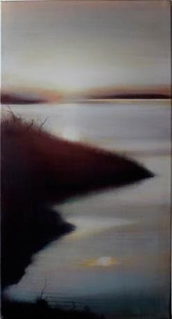 Sunrise on Quadra, 2008, Oil on Canvas 24 x 12