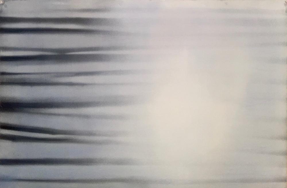Light Stream, Paint on paper, 27 x 34