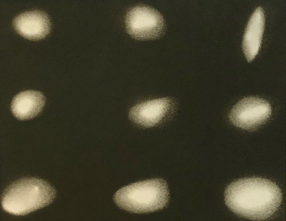 Small Rocks, 2018, Mixed Media on Paper, 7.5 x 9.5