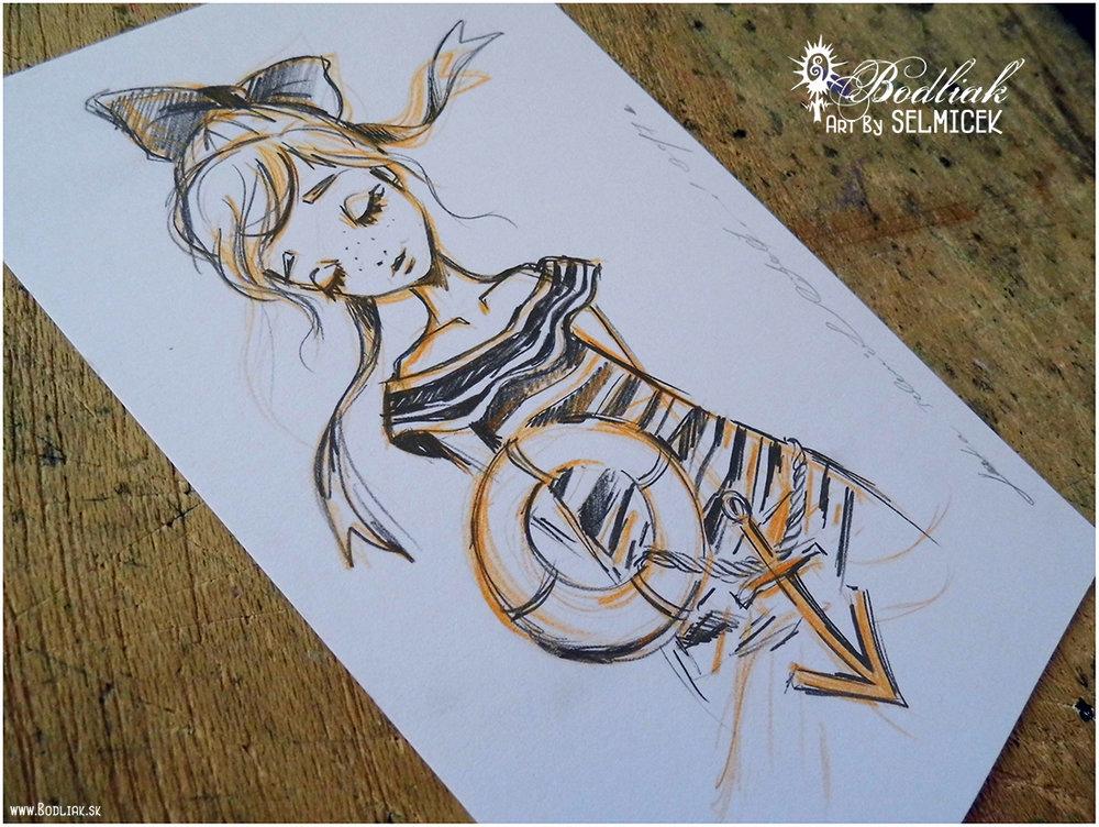 Vetrom hladená autor: Selmicek 13cm x 8cm ... cena za tetovanie v danej veľkosti 70,- eur