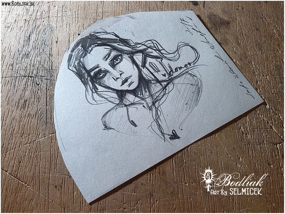 Žienka s domčekom autor: Selmicek 11cm x 10cm ... cena za tetovanie v danej veľkosti 60,- eur