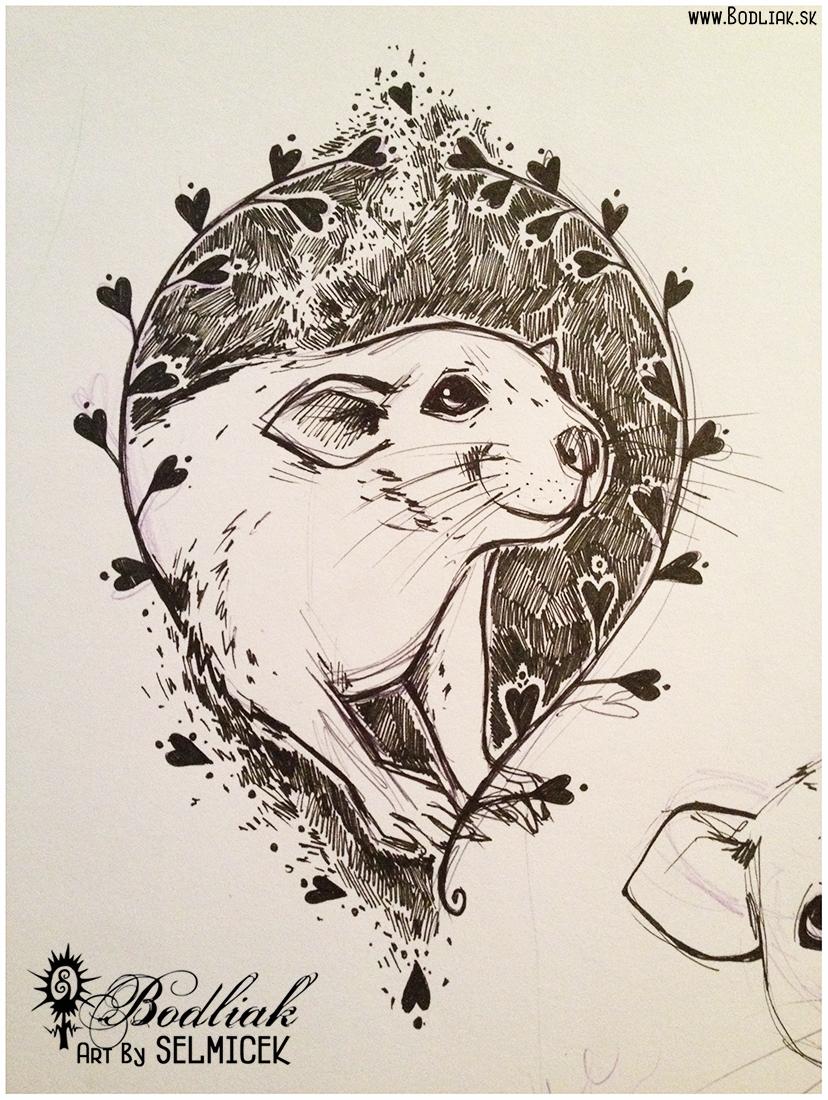 Potkaník autor: Selmicek 16cm x 10,5cm ... cena za tetovanie v danej veľkosti 70,- eur