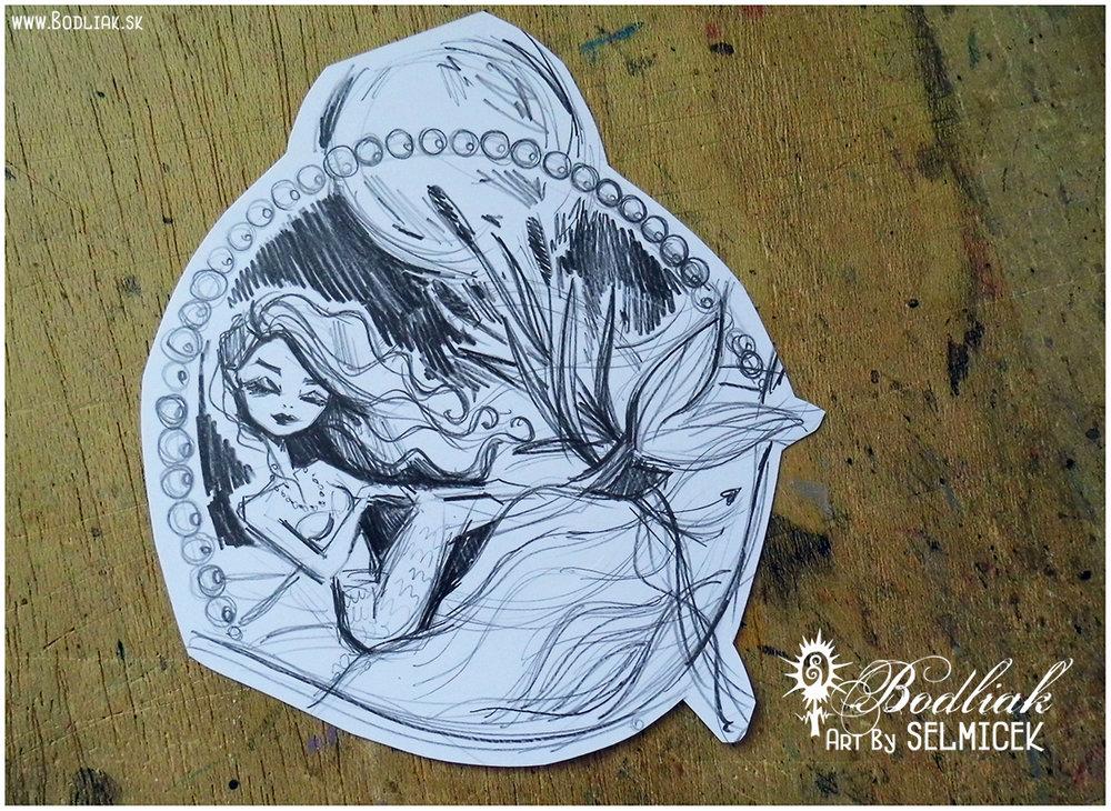 Morskaaa panna   autor: Selmicek  14cm x 17cm ... cena za tetovanie v danej veľkosti 90,- eur