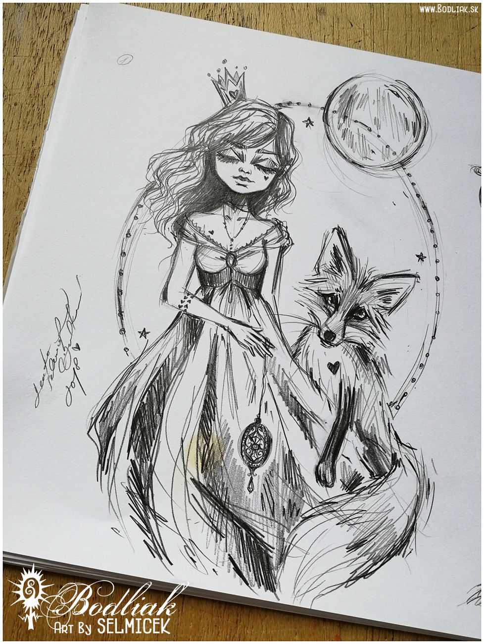 O princezne a líške   autor: Selmicek   o princezne a líške  - 21cm x 14cm