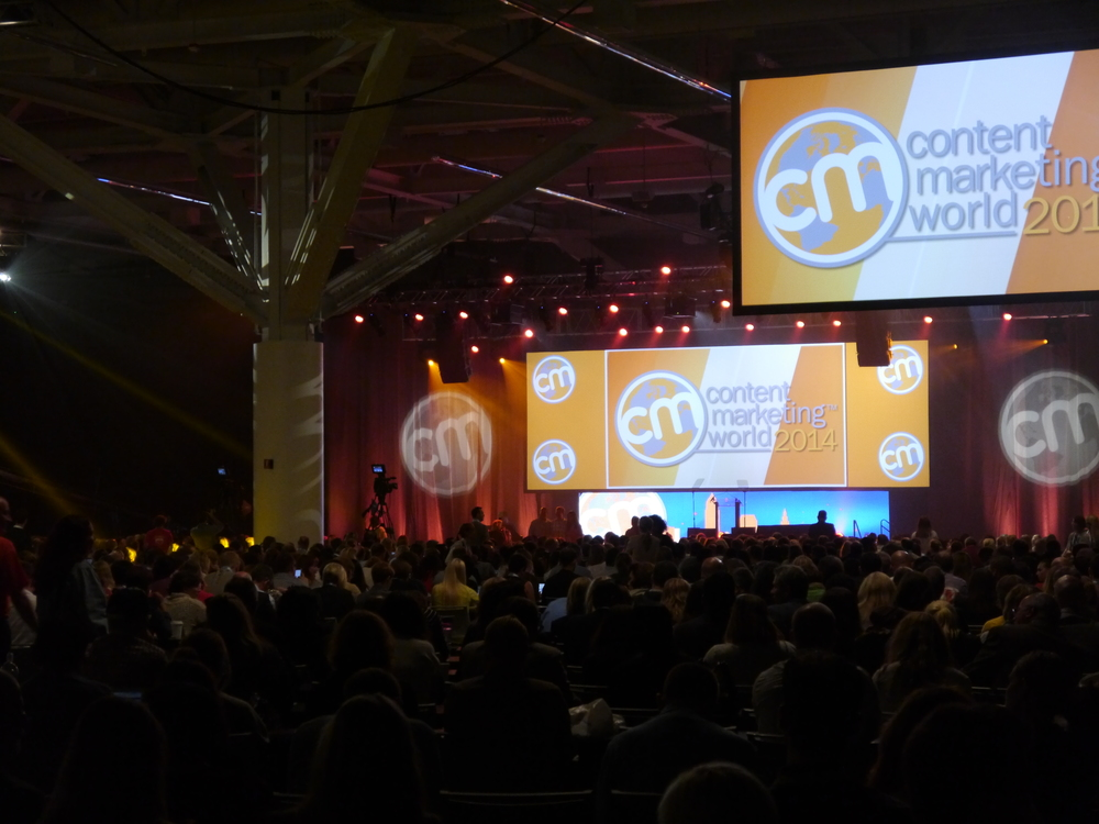 More than 2500 Content Marketing professionals gather for the yearly conference in Cleveland, Ohio.