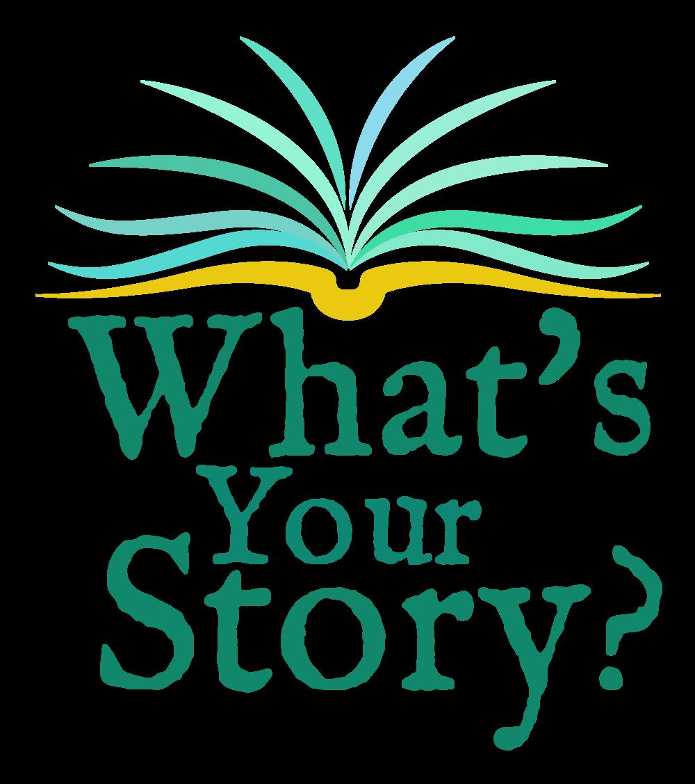 logo whats your story the storyteller agency logo