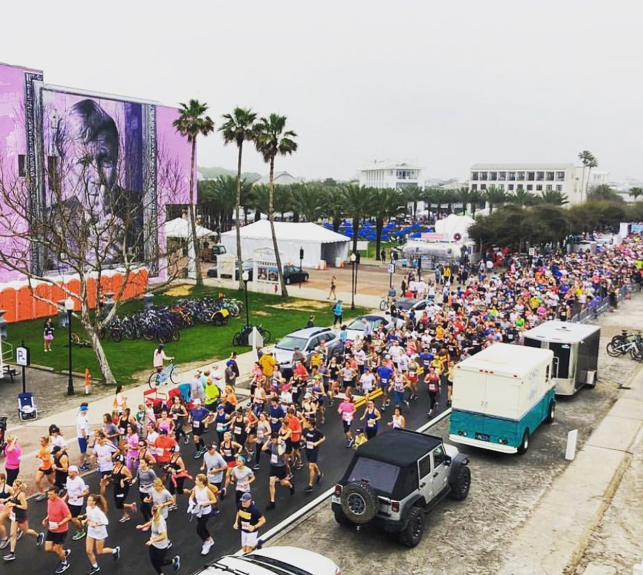 The Seaside School Half Marathon & 5K is one of the area's largest fundraising events with proceeds benefiting the community's Seaside School. Photo Credit: Cottage Rental Agency