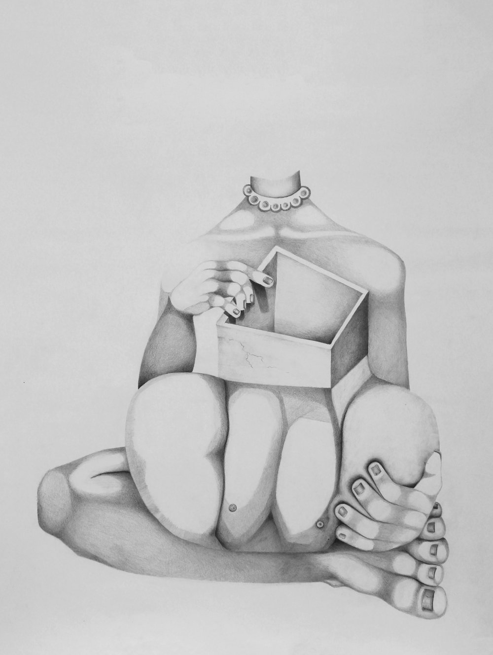 Graphite pencil on paper. 2018