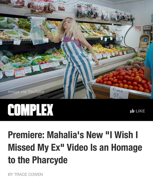 My bro @cscottamos out in LA edited this sick music video for @mahalia- it's a Spike Jonze homage, all reversed & she learned the lyrics backwards 🤭 check it out, i'm addicted (guy chugging 🥛 is my fav)
