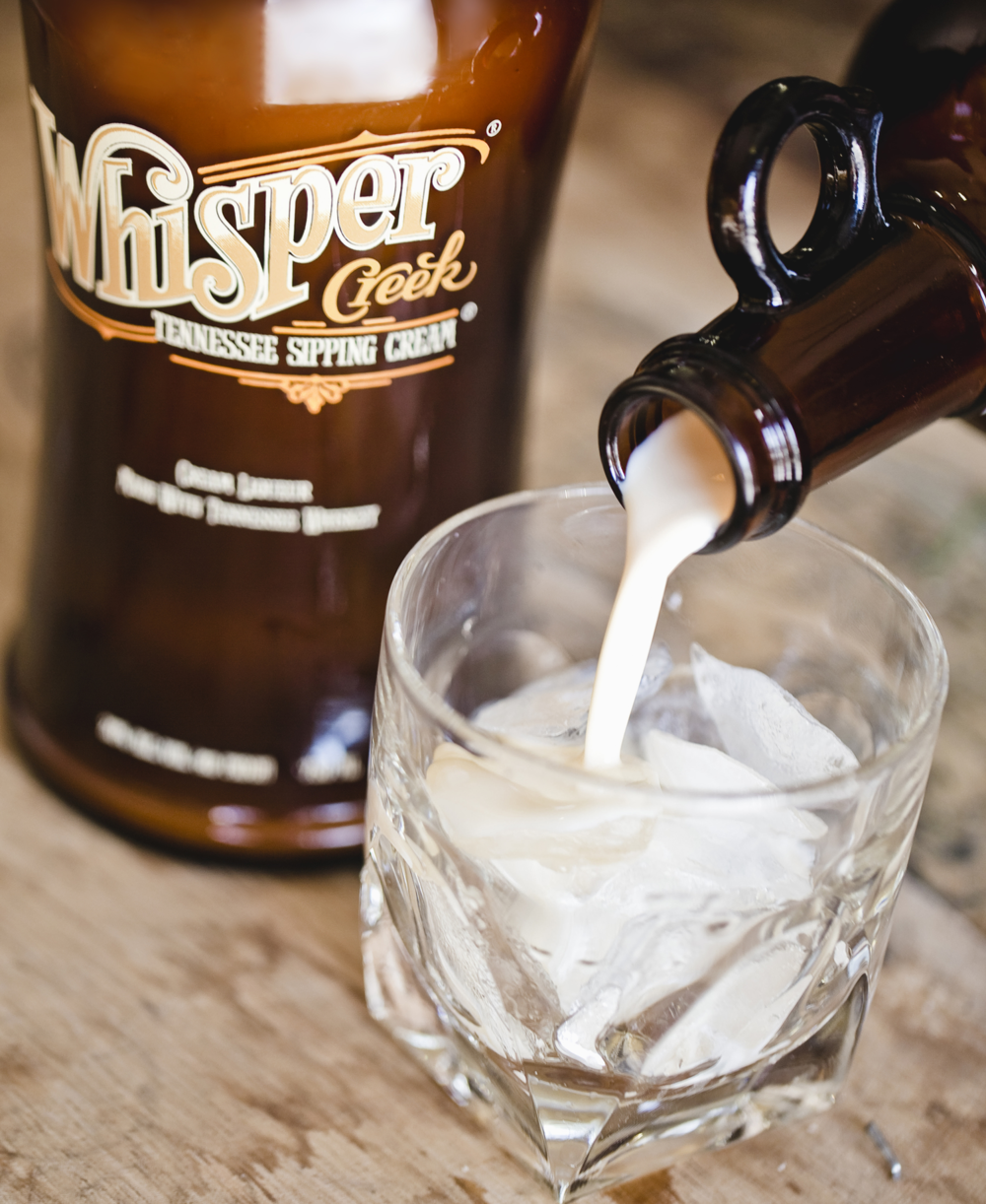Whisper Creek Tennessee Sipping Cream - best sipped on the rocks